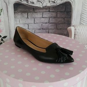 Banana Republic Women's Leather Flats Black Sze 7M